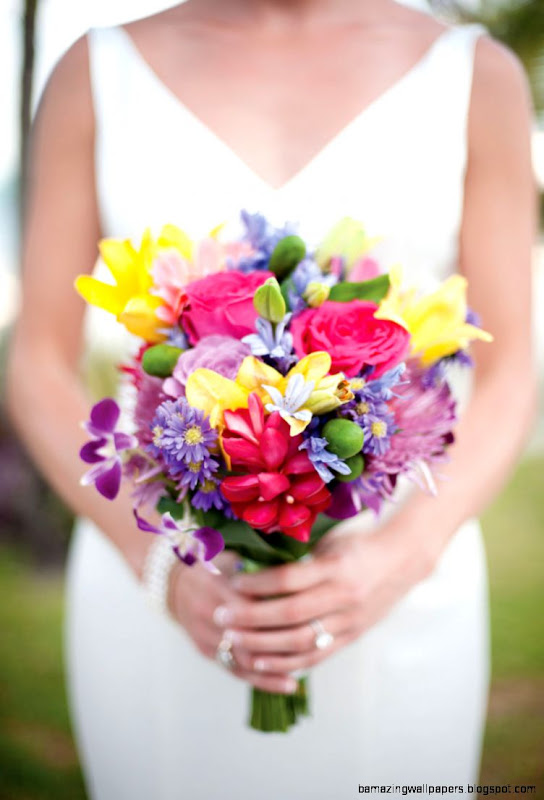 Simple Spring Wedding Flowers Bouquet  Flower Meanings Pictures