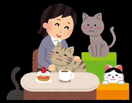 猫カフェ イラスト