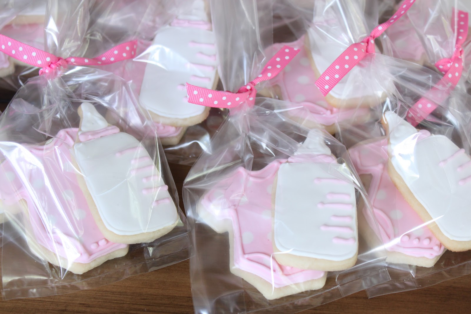 satisfy polka dot chevron pink white baby shower sweets
