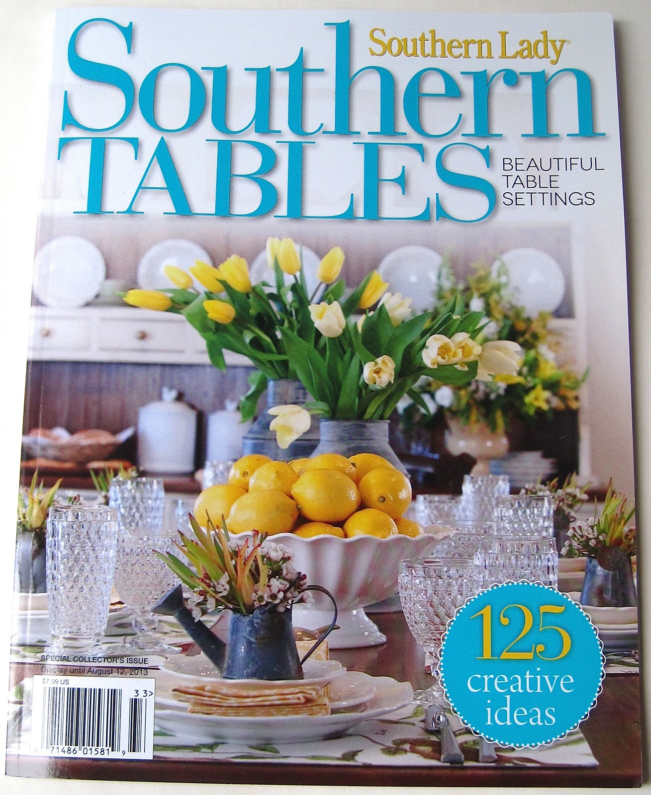 A carefully folded fabric napkin with silverware artfully tucked inside. Clear hobnail goblets standing next to a stack of crisp white plates. & Tea With Friends: Southern Tables by Southern Lady Magazine