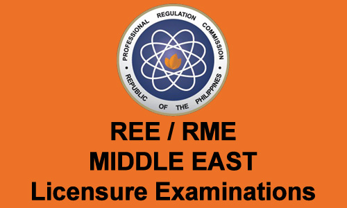 Top 4 RME Board Exam (Middle East) Passers October 2012
