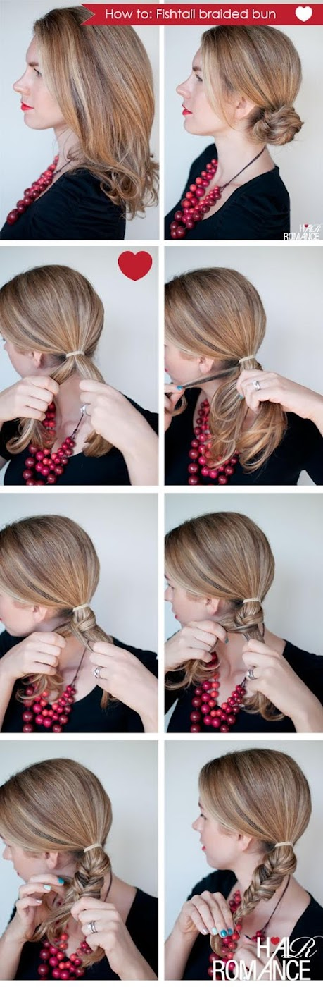 New Short Hair Styles: How to do a fishtail braid Fishtail Braid How To
