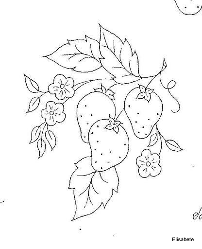 Meu Cantinho de imagens: Frutas para bordar e pintar