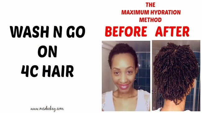 The Maximum Hydration Method for 4C Hair