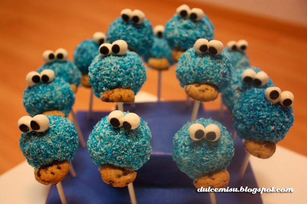 cake pop, triki, monstruo de las galletas, oreo, fondant, dulcemisu