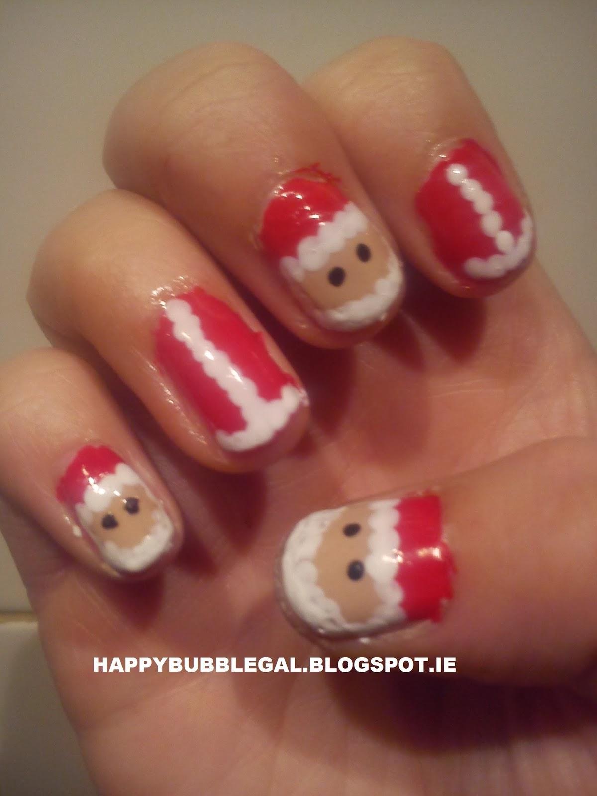 Happy bubble gal christmas nail art santa nails christmas nail art santa nails prinsesfo Choice Image