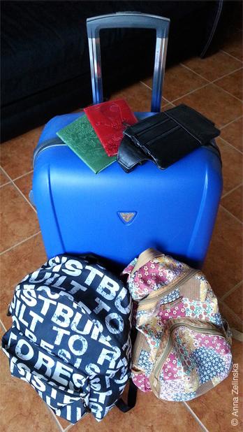 Багаж до переезда в Черногорию