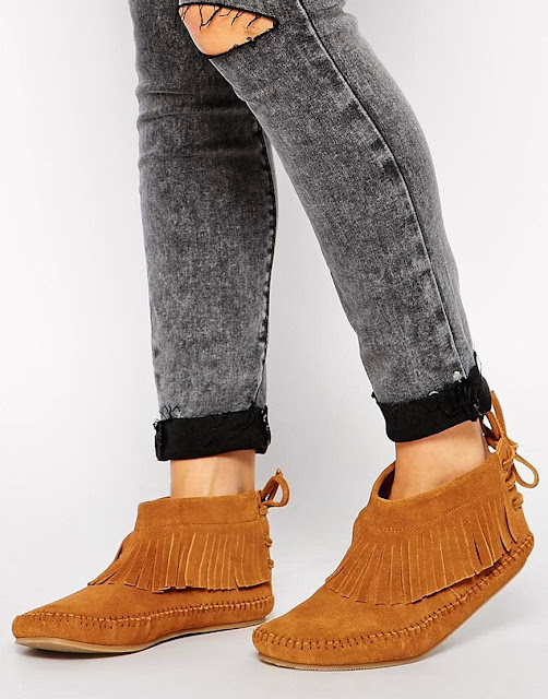 Bottines frangés asos