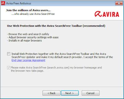 Avira Free Antivirus 2013 - Installation
