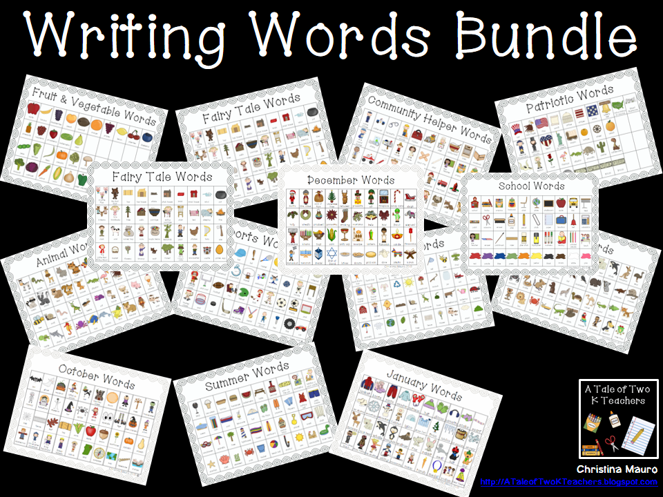 http://www.teacherspayteachers.com/Product/Writing-Words-Bundled-687605