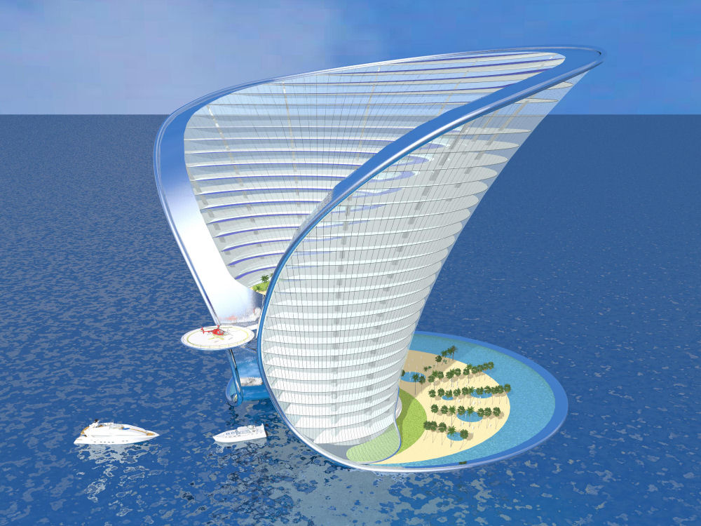 Mysansar apeiron island hotel dubai concept design and for Dubai 7 star hotel name