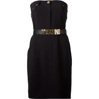 moschino vestido black