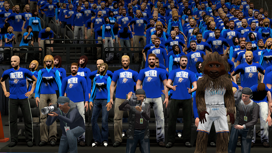 Thunder Rise Together Crowd in NBA 2K14