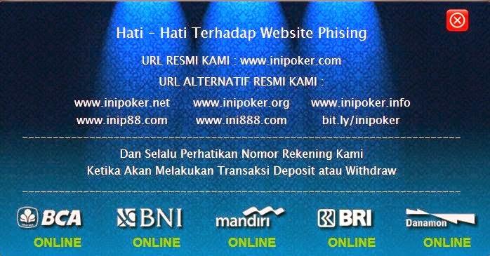 INIPOKER.NET Judi Domino 99 Online Terpercaya Indonesia