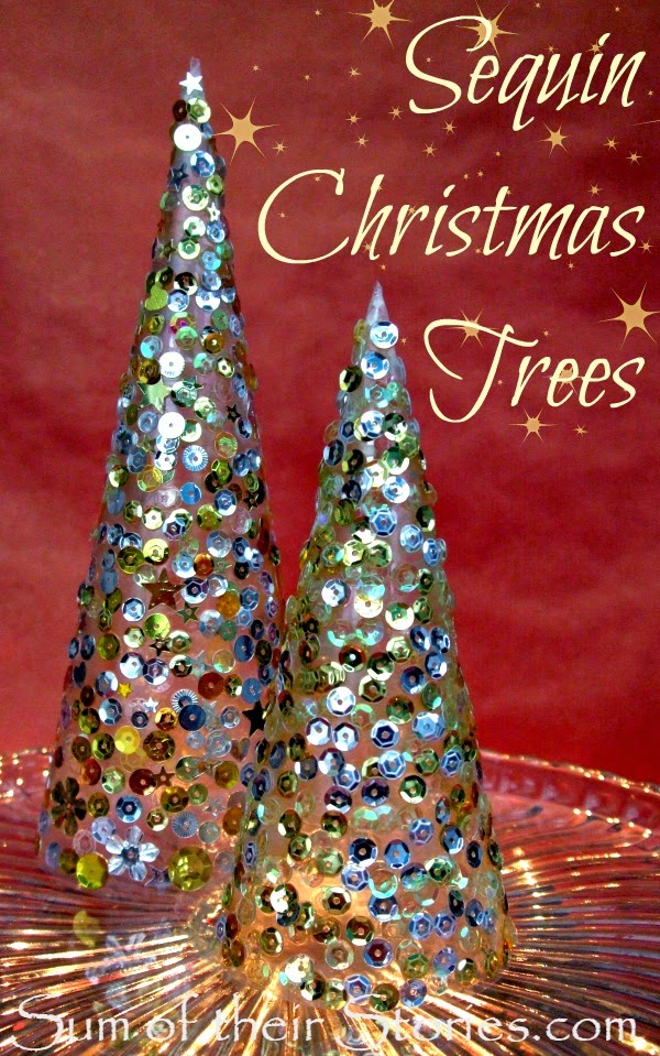 How to make mini Sequined Christmas Trees