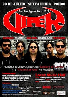 Dia 20-7 Viper toca seu heavy-metal em Curitiba