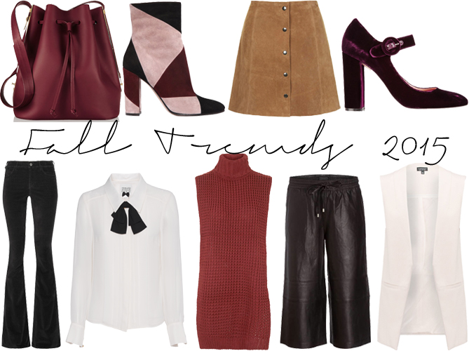 Fall Autumn Trend style guide 2015