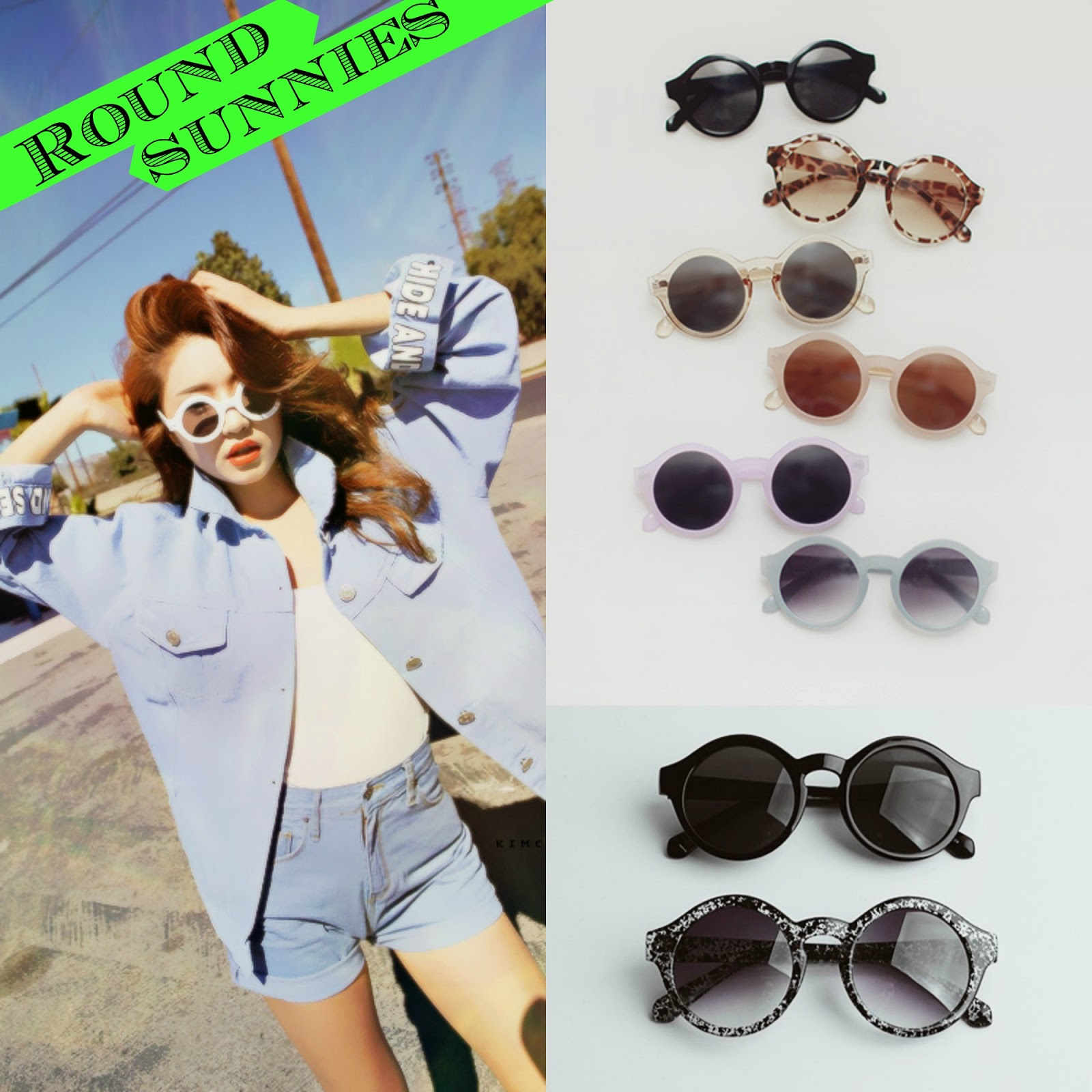 Spring 2014 fashion trends round sunglasses