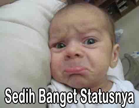Sedih Banget Statusnya Versi Bayi gambar comment facebook