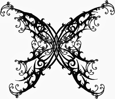 gothic butterfly tattoos designs