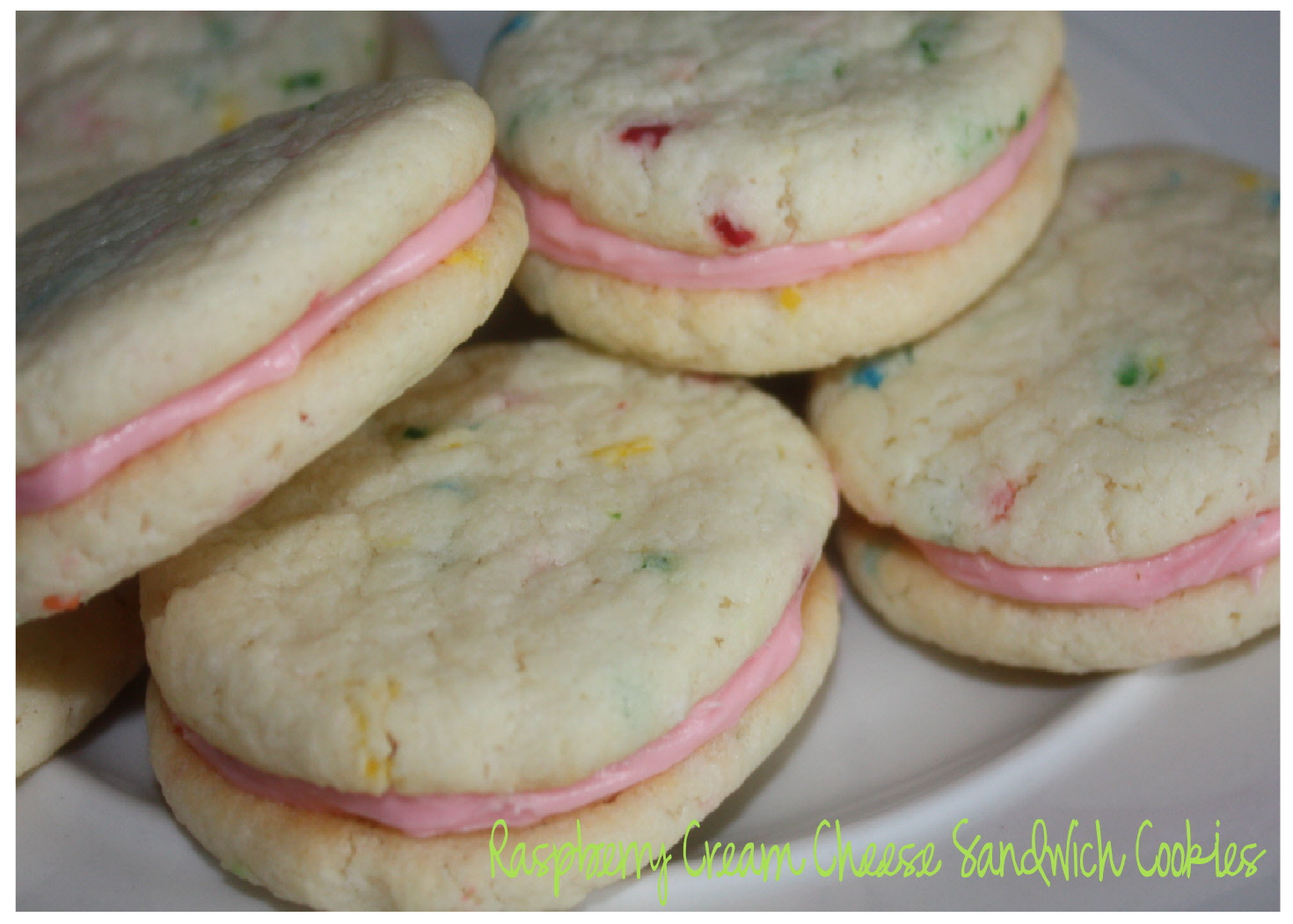 just Sweet and Simple: Raspberry Cream Cheese Sandwich Cookies