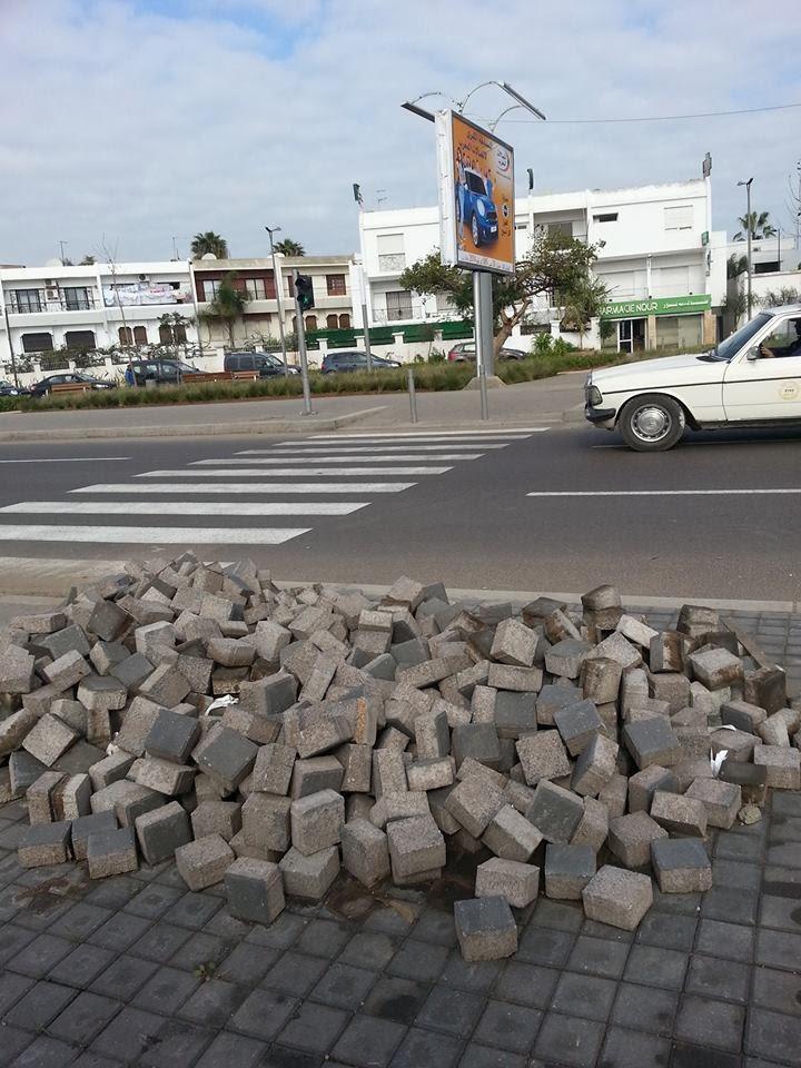 Save casablanca travaux non achev s et dangereux for Carrelage yacoub el mansour