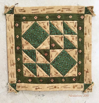 Dear Jane Quilt - Block D10 Battlefield