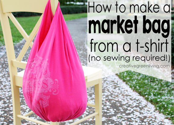 How to Make a Bag from a T-Shirt (no sewing required ...