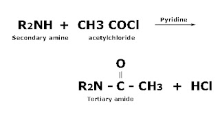 Secondary amine acylation