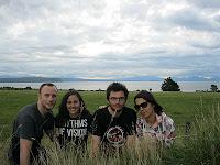 Con Marta y Carlos en Taupo.
