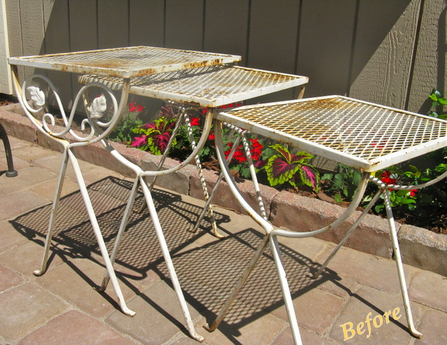 Spray paint for metal outdoor furniture how to spray paint metal outdoor furniture to last a Spray painting metal patio furniture