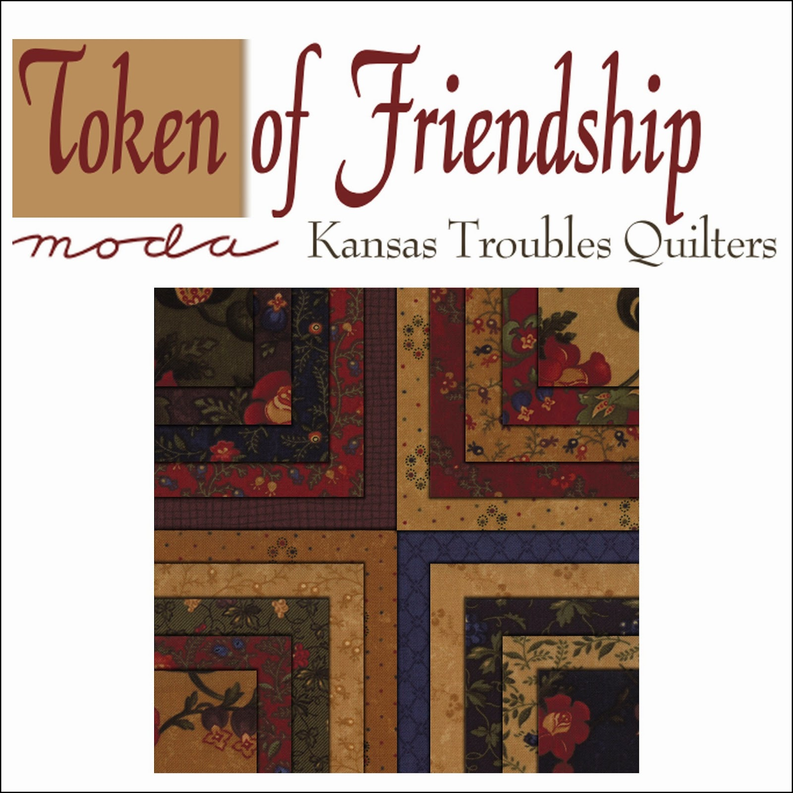 Moda TOKEN OF FRIENDSHIP Quilt Fabric by Kansas Troubles Quilters for Moda Fabrics