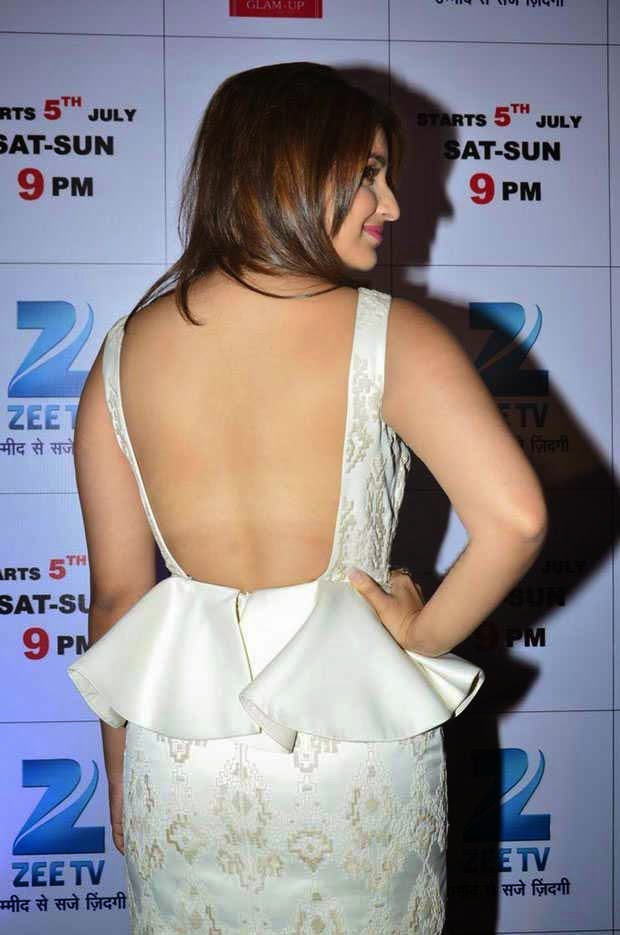 Actress Parineeti Chopra's Backless Outfit