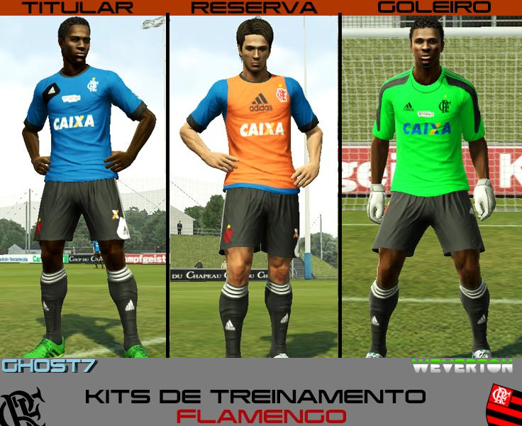 Kits Training Flamengo V3 2013/14 - PES 2013