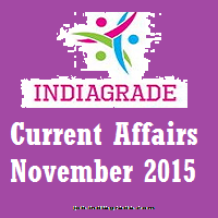 Current Affairs 2nd November 2015