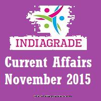 Current Affairs 2nd November 2015