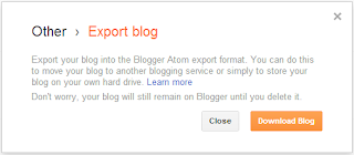 back up - Export Blog