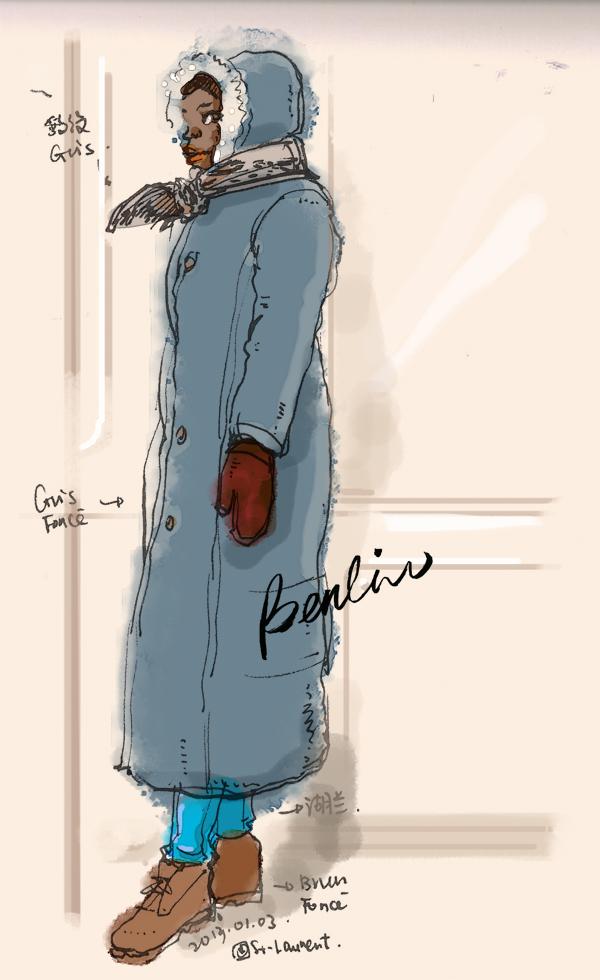 Winter coat black woman