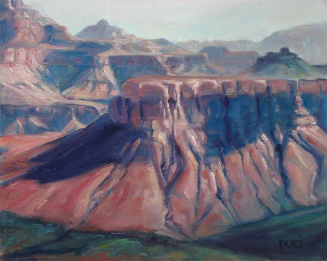 The Grand Canyon National Park, Arizona USA. Original oil painting by puci