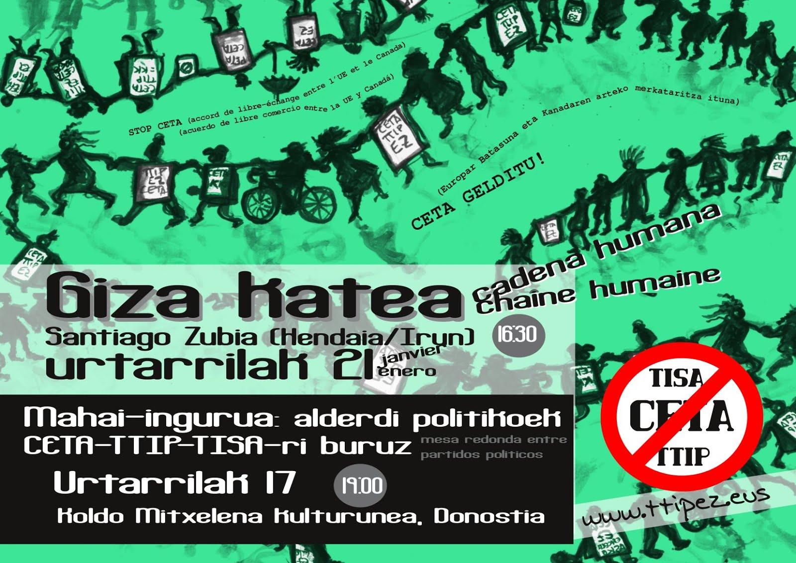 Giza katea TTIP/CETA Ez!