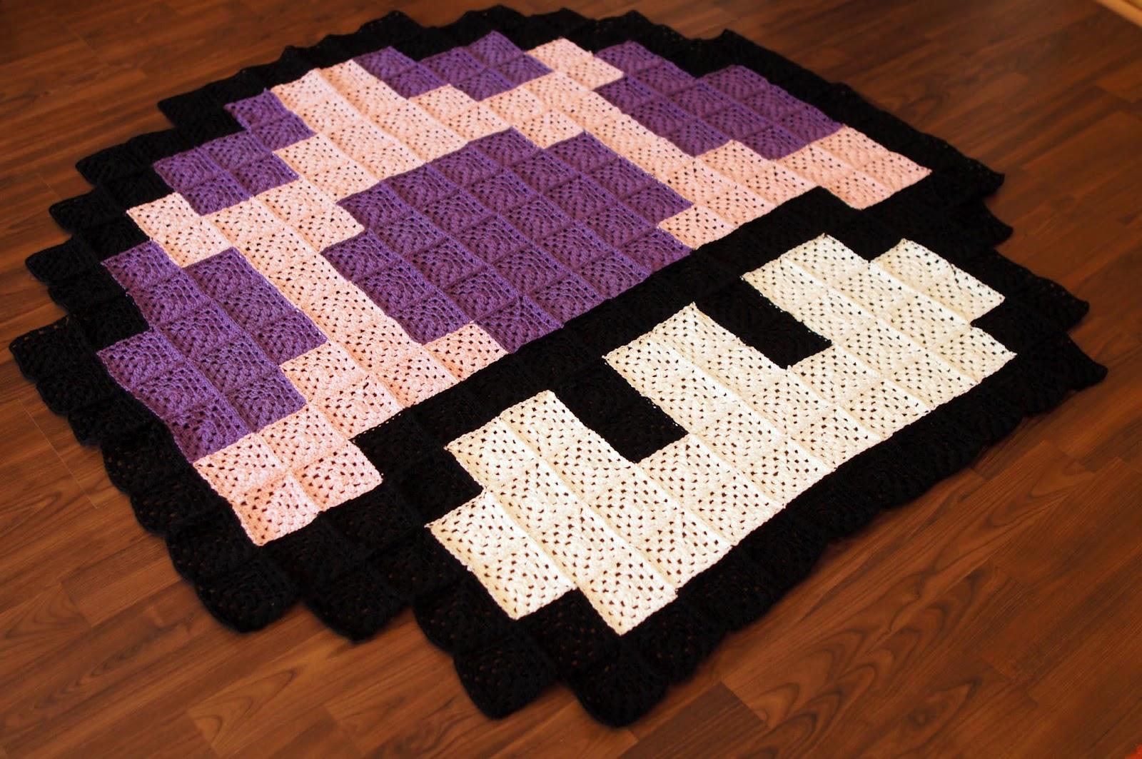 crochet knitting stitch granny square decke mushroom. Black Bedroom Furniture Sets. Home Design Ideas
