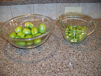 chopped green tomatoes