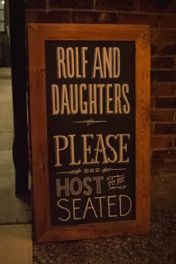 Rolf and Daughters restaurant in Nashville Tennessee