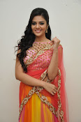 sri mukhi glam pix in half saree-thumbnail-14