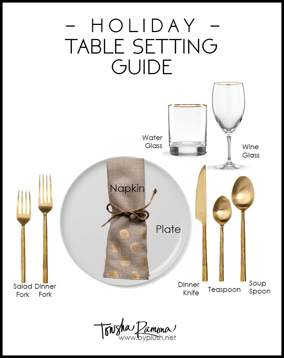 Tonisha Ramona: 5 UNIQUE HOLIDAY PLACE CARDS + TABLE SETTING GUIDE
