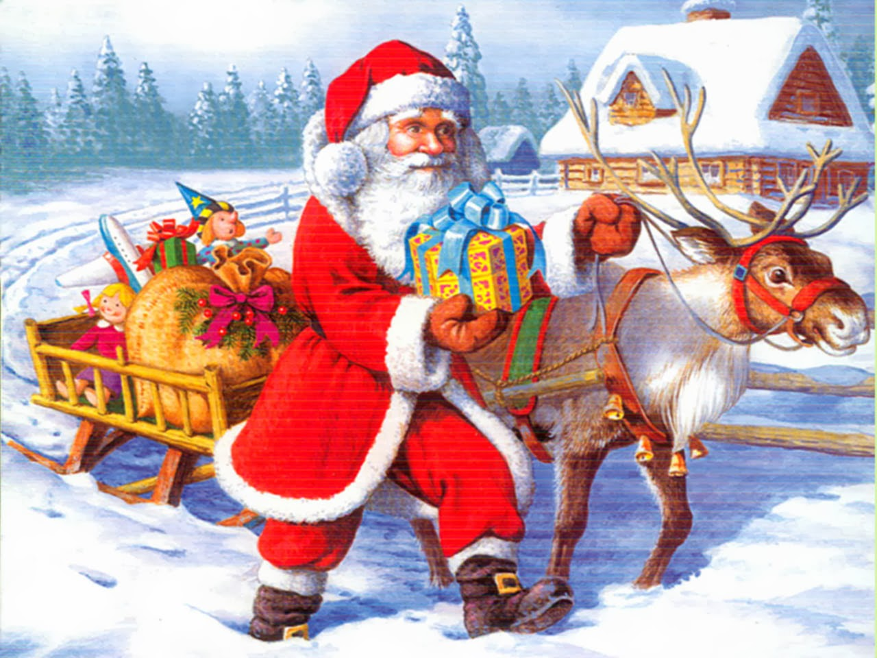 Santa Claus 3D pictures - Beautiful wallpapers collection 2014