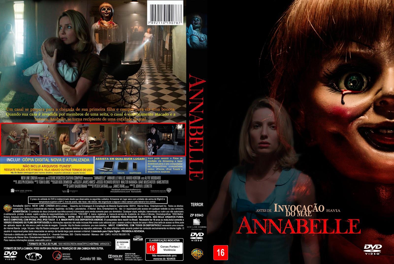 Capa DVD Annabelle