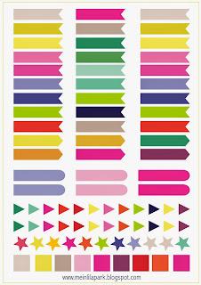 http://meinlilapark.blogspot.com/2015/01/free-printable-calendar-planner-flags.html