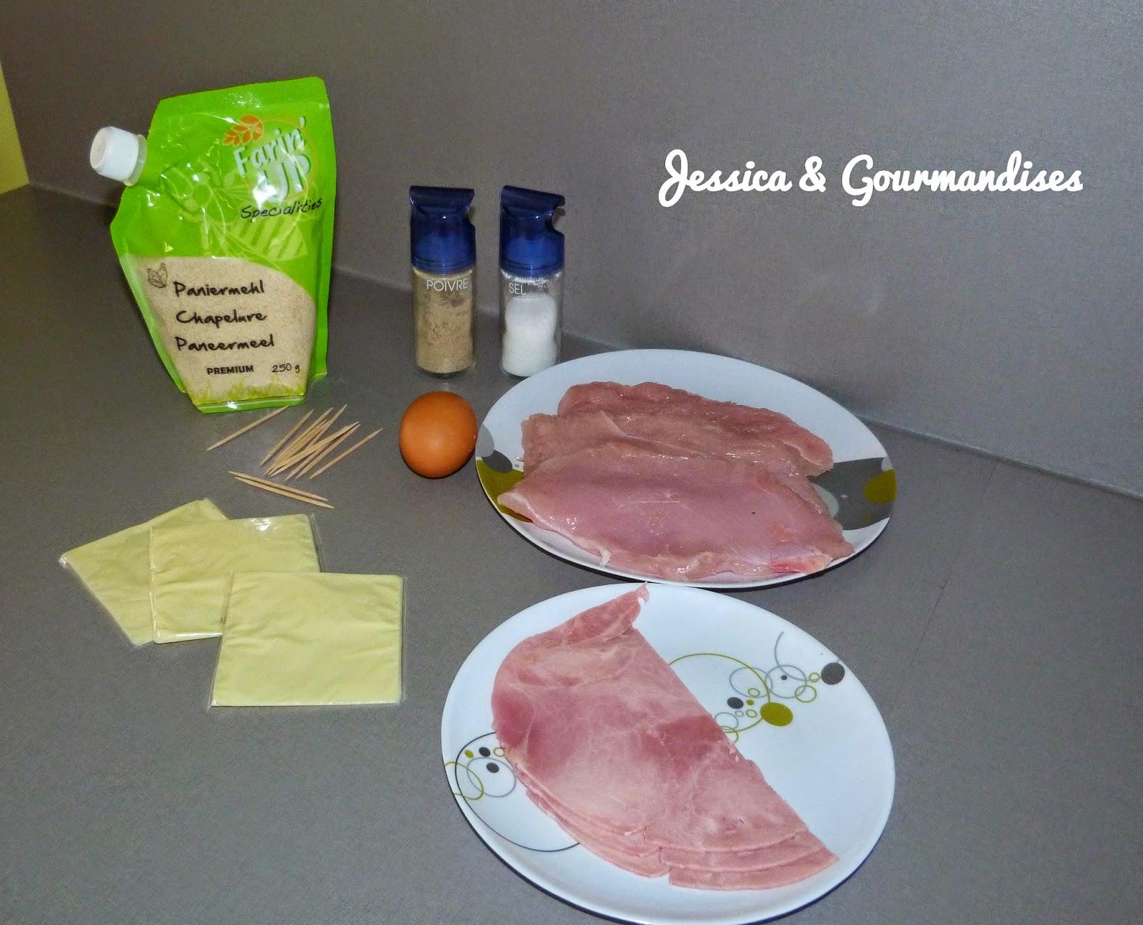 Jessica gourmandises cordon bleu maison - Escalope cordon bleu maison ...