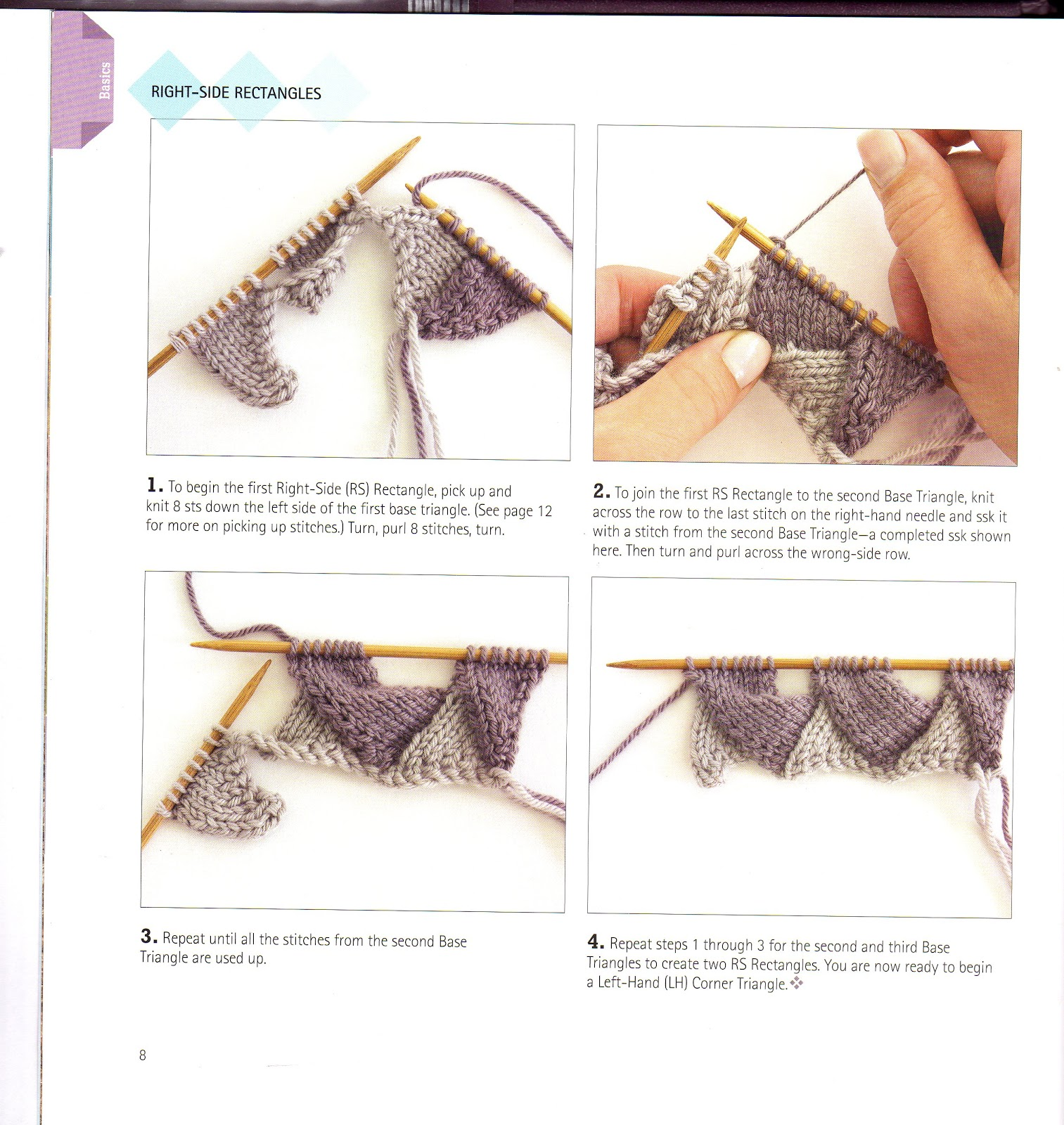 Knitting Patterns Free: What is Entrelac knitting? How to Entrelac ...